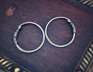 Afghani Tribal Hoop Earrings