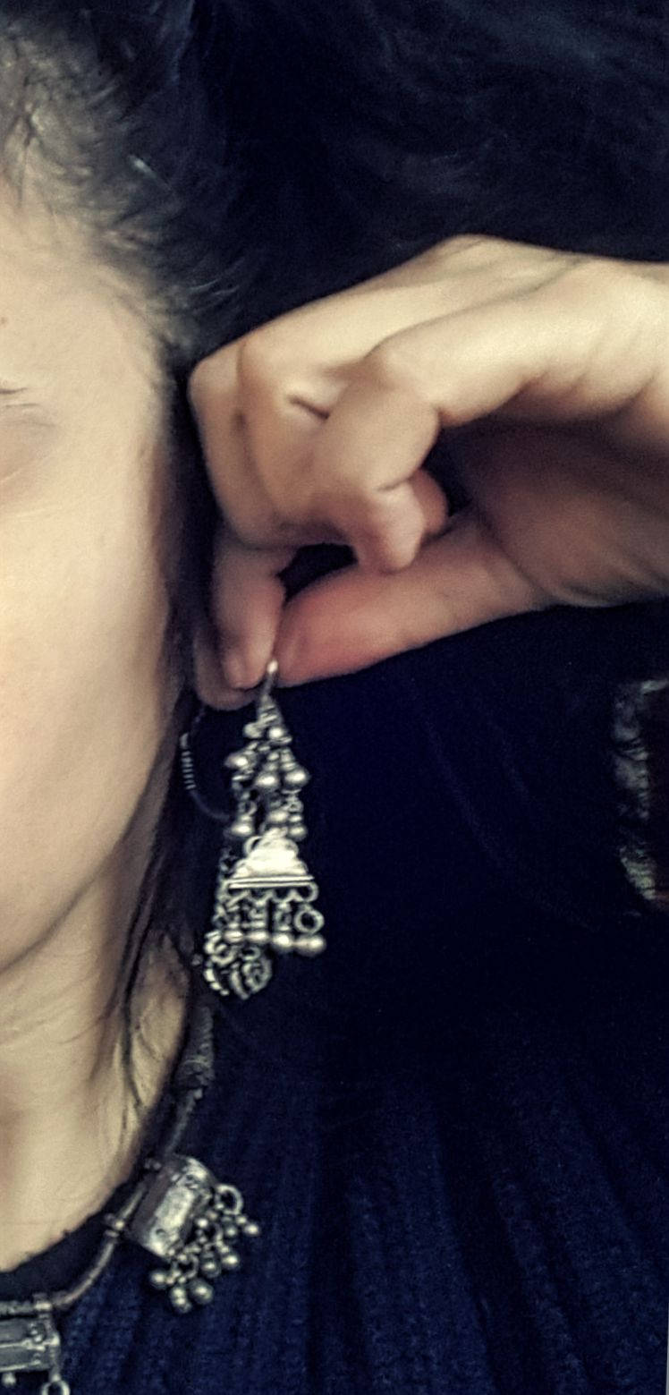 Tribal Rajasthani Earrings - Indian Tribal Silver Earrings - Rajasthani Jewelry - Ethnic Tribal Earrings - Rajasthani Tribal Jewelry