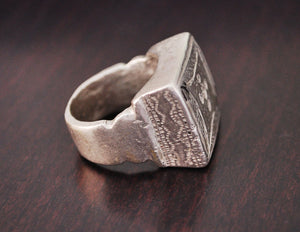 Old Fulani Tuareg Ring from Mali - Size 7 - Old Fulani Silver Ring - Tribal African Silver Ring