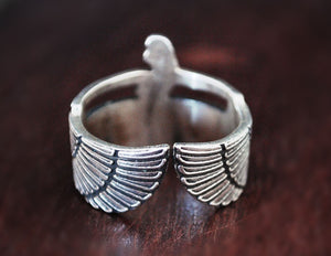 Egyptian Goddess Isis Ring - Size 7+ - Egypt Silver Ring - Goddess Isis - Egyptian Ring - Egyptian Jewelry