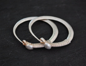 Antique Afghani Hoop Earrings - Kuchi Hoop Earrings - Tribal Hoop Earrings - Afghani Earrings - Afghani Jewelry - Ethnic Hoop Earrings