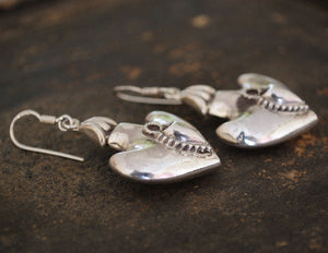 Rajasthani Silver Earrings - Rajasthan Silver Earrings - Rajasthan Silver Jewelry - Rajasthani Earrings - Indian Jewelry