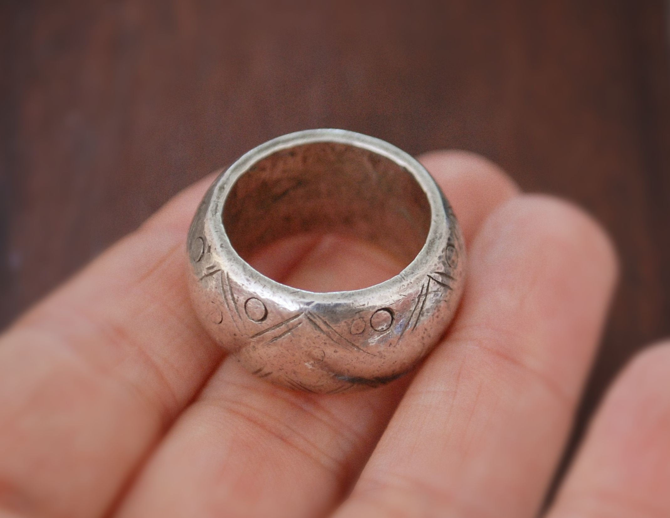 Antique Ethiopian Silver Ring - Size 8 - Ethiopian Jewelry - Tribal Silver Ring - Tribal Jewelry