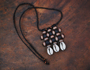 Wodaabe Leather Beaded Necklace