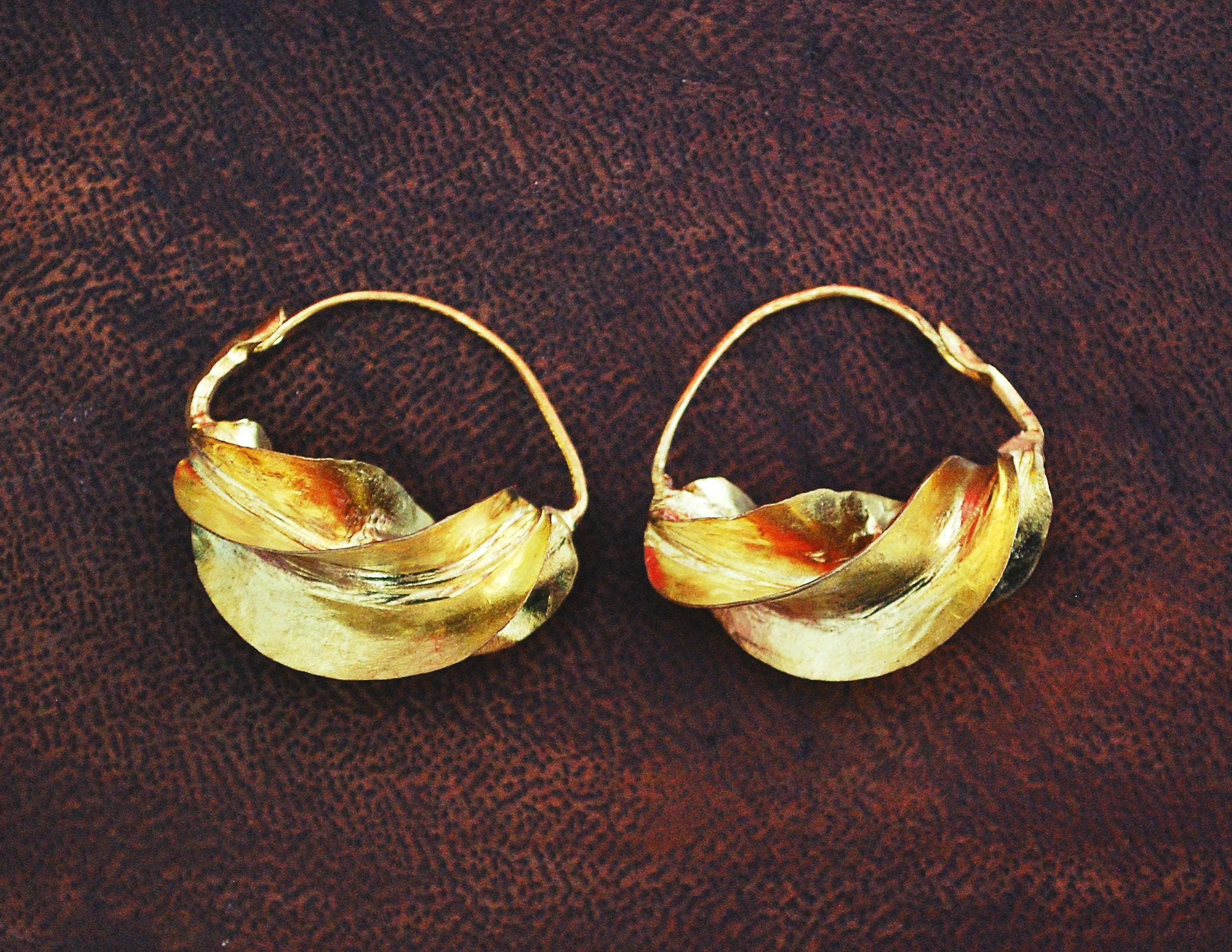 Tribal Fulani Hoop Earrings MEDIUM