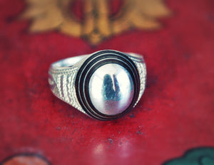 Tuareg Ring with Ebony Inlay- Size 7.5