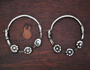 Antique Afghani Tribal Hoop Earrings