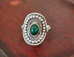 Ethnic Jade Ring - Size 8.5 - Jade Ring - Jade Jewelry - Ethnic Ring - Ethnic Jewelry - Indian Jewelry