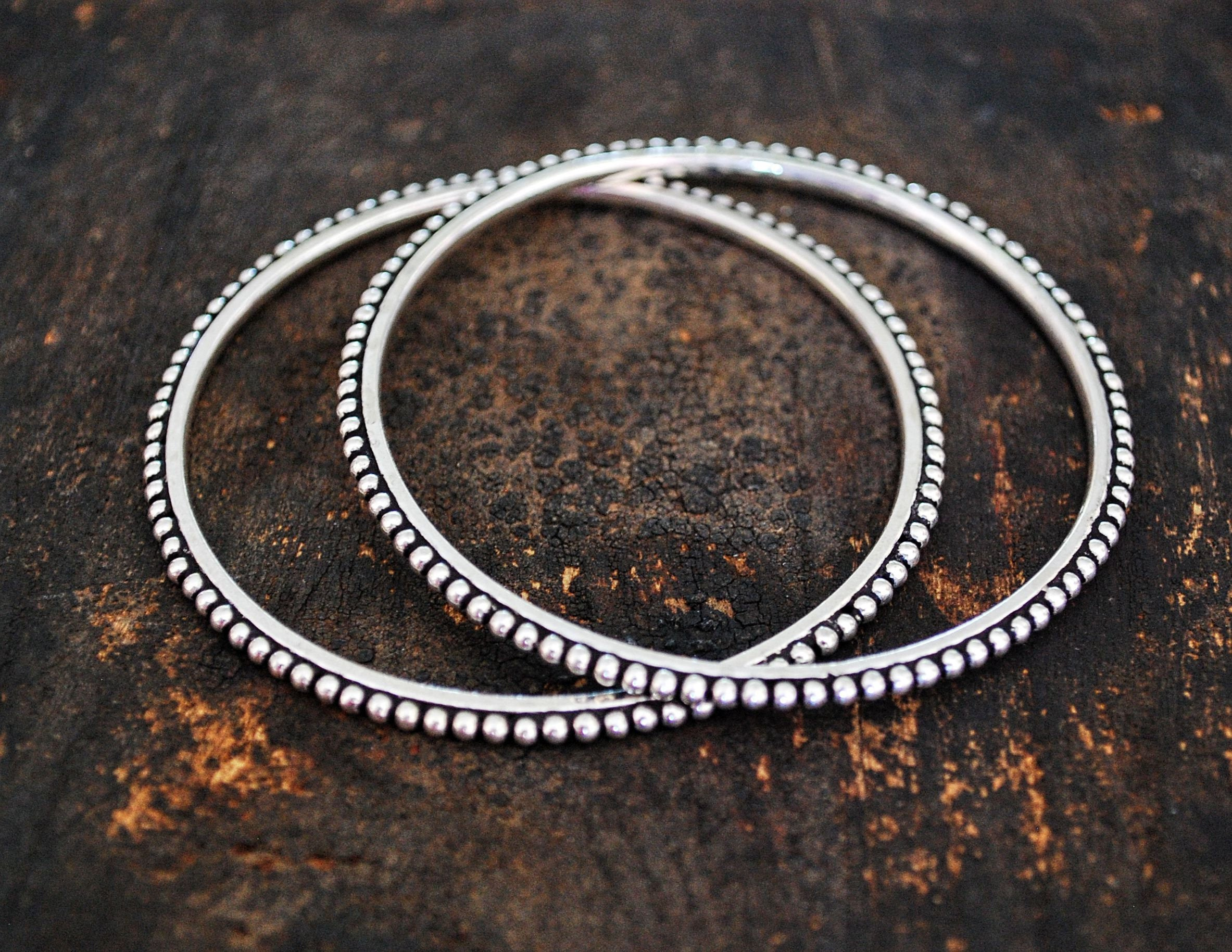 Rajasthani Silver Bracelet - SMALL - Indian Silver Bangle Bracelet - Rajasthani Jewelry - Indian Jewelry - Ethnic Jewelry - Ethnic Bracelet
