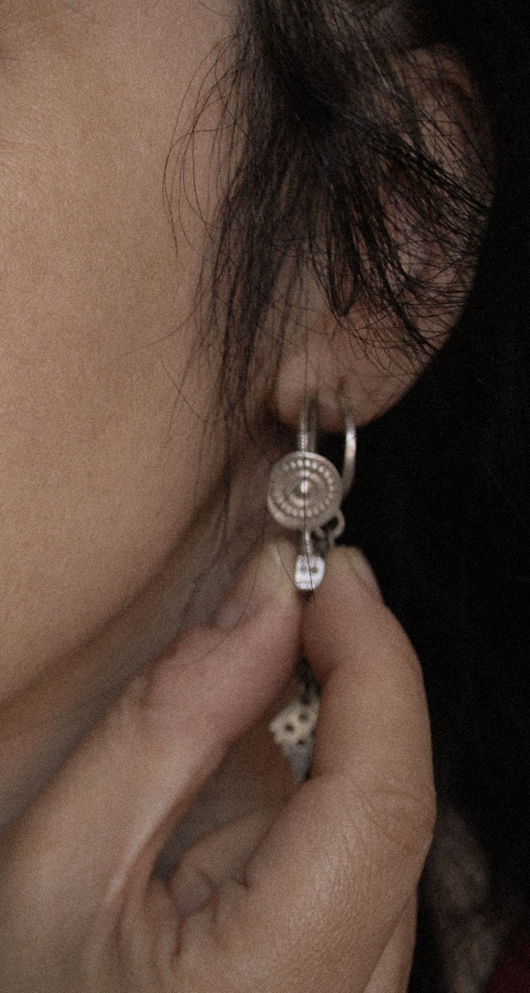 Tribal Indian Earrings from Gujarat - Rajasthani Earrings - Rajasthani Jewelry - Tribal Earrings - Gujarati Jewelry