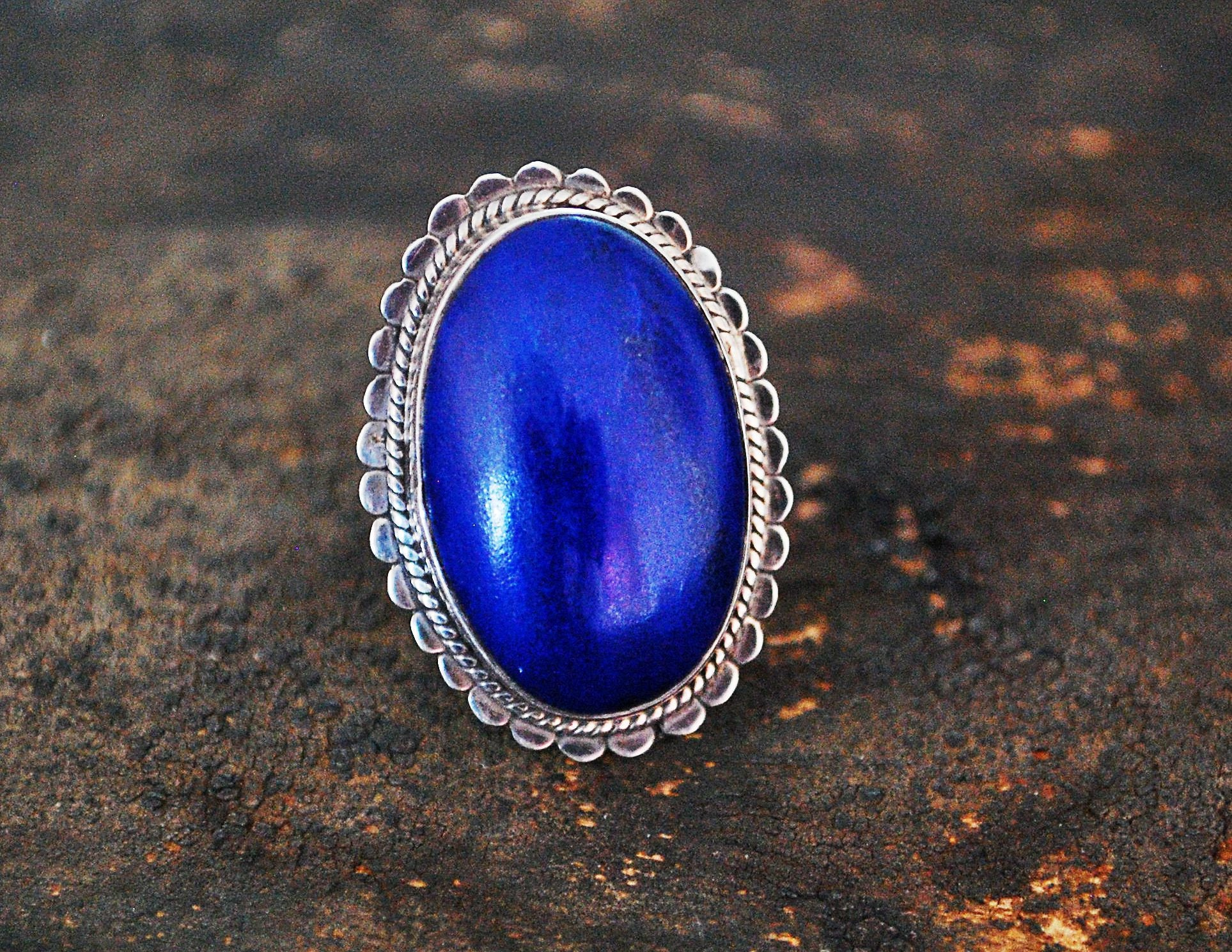 Ethnic Lapis Lazuli Ring from India - Size 6 - Indian Jewelry - India Ring - Lapis Lazuli Ring - Ethnic Ring