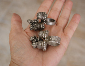 Antique Rajasthani Silver Ring - Size 5.5 & 7.75