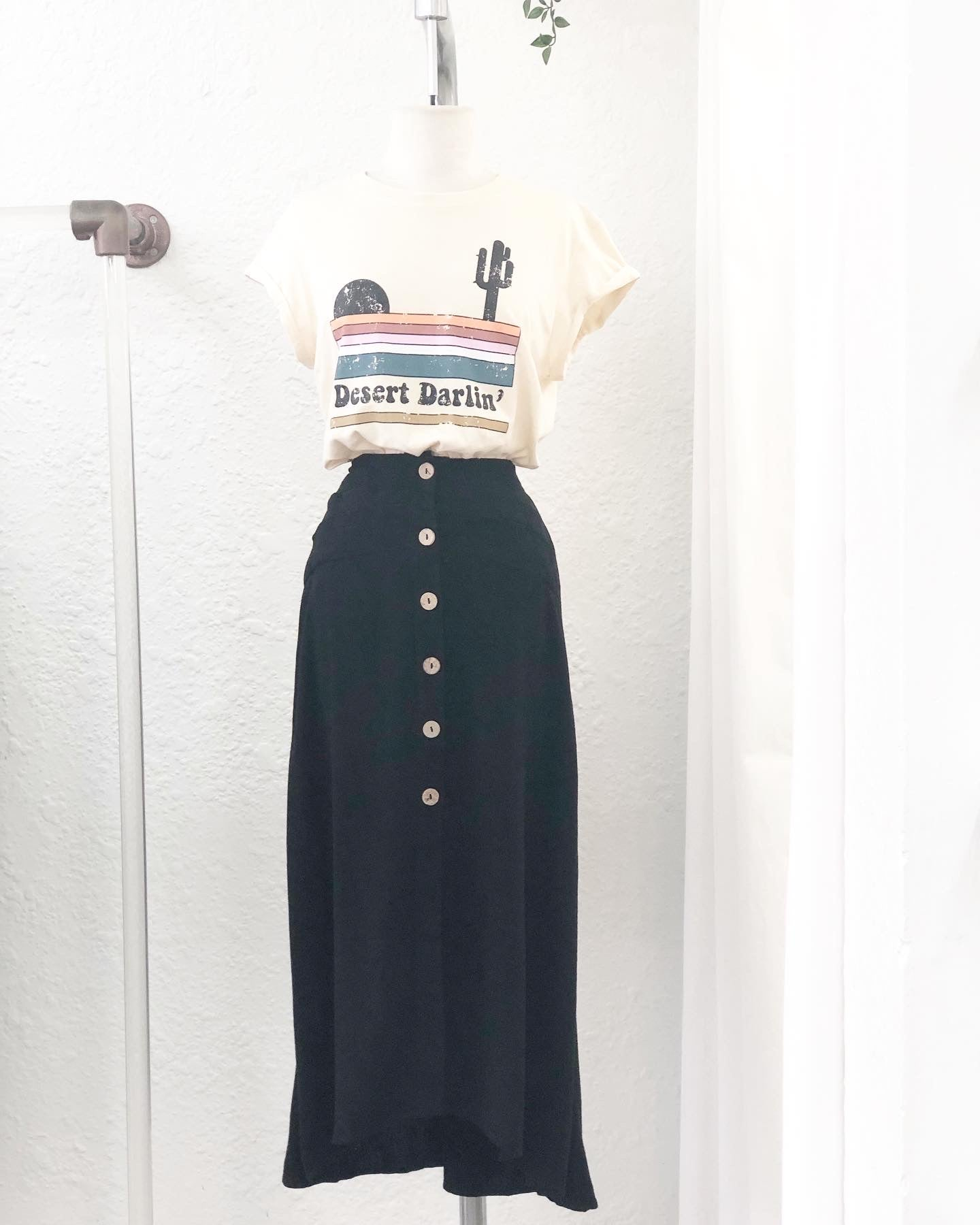 Linen Love Black Skirt