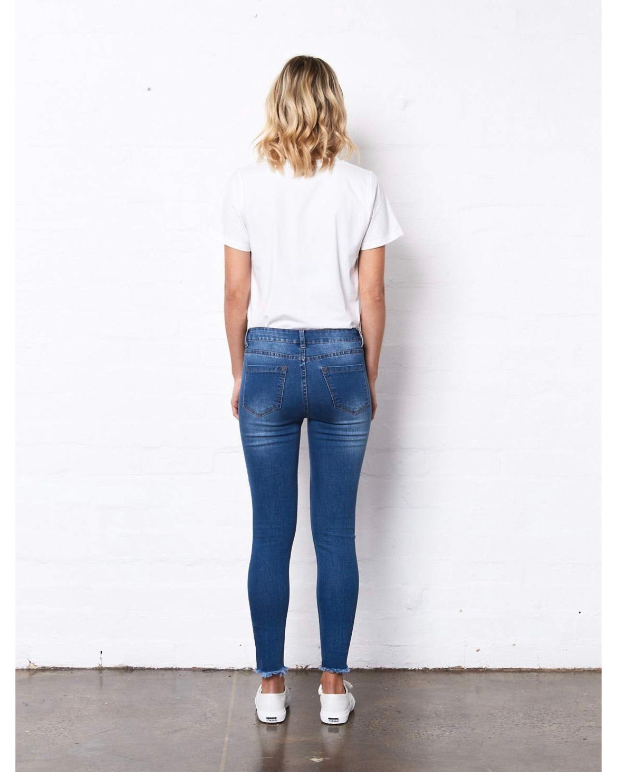 Saint Rose Mid Blue Denim Lucia Jeans