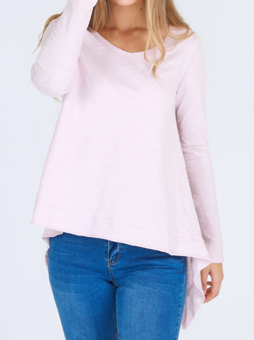 Willow Tee in Blush Marle by 3rd Story the label