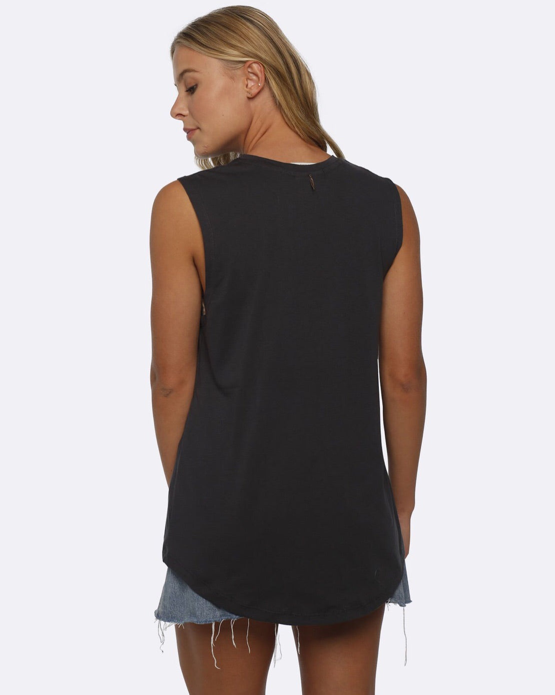 Folksong Feather Tank Vintage Black