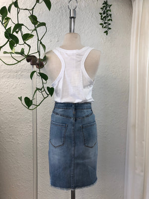 Saint Rose denim skirt back