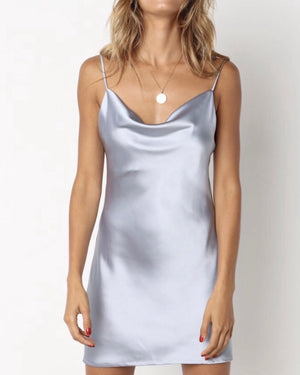 Sky Blue Slip Dress