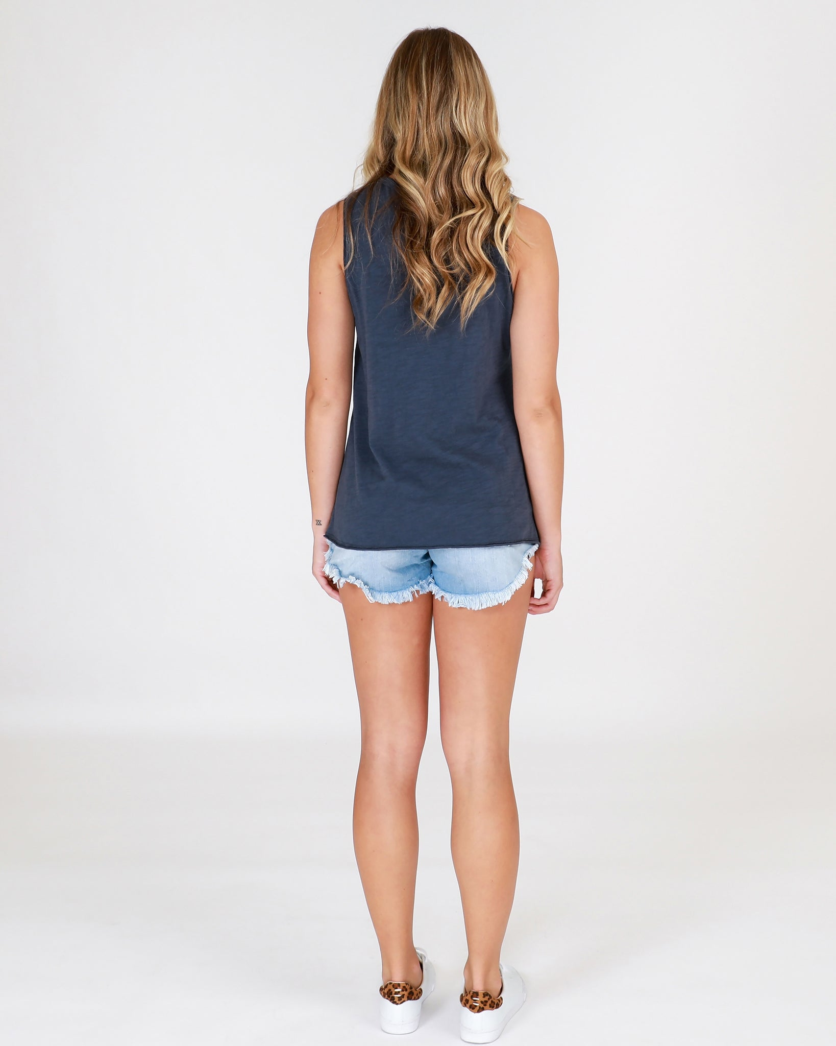 Rosedale Tank Indigo 3rd Story the label
