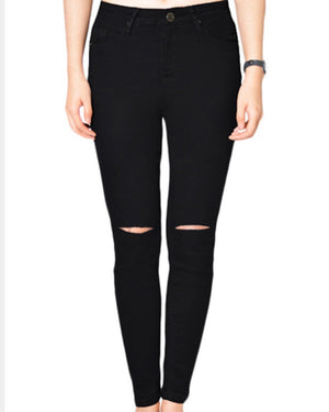 Black High Waisted Jeans by Wakee