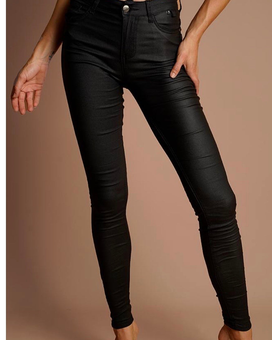 Oil Rigger Jeans High Waisted Black