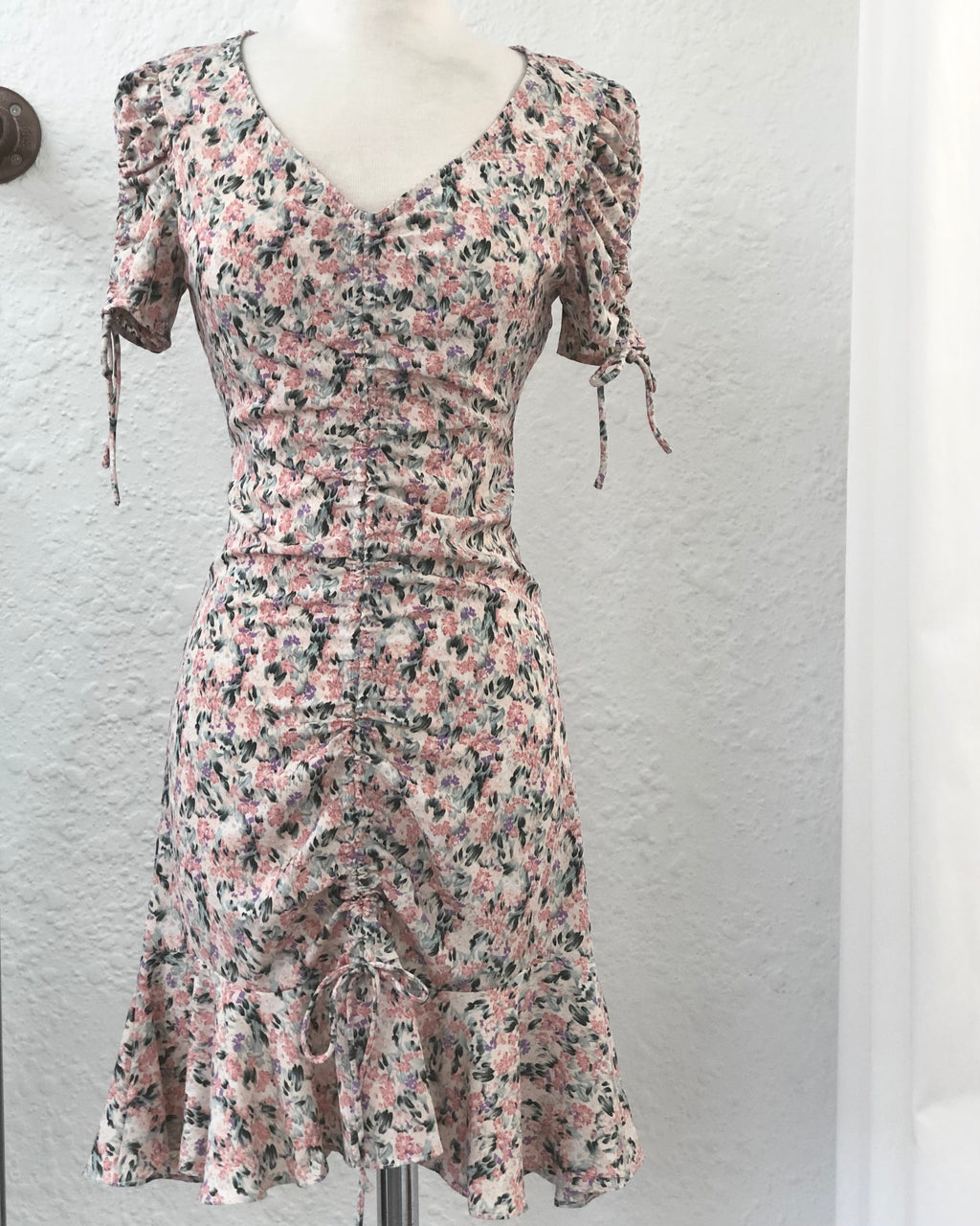 Wildflower Drawstring Floral Dress