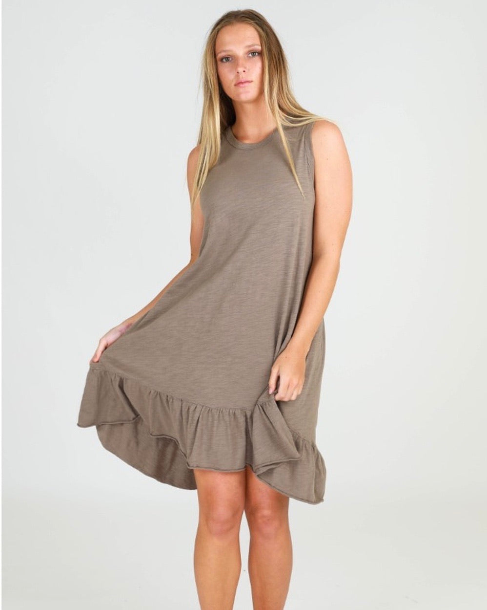 3rd Story Hillary Tunic Dress Olive