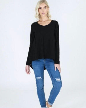 Willow Tee in Black by 3rd Story the label