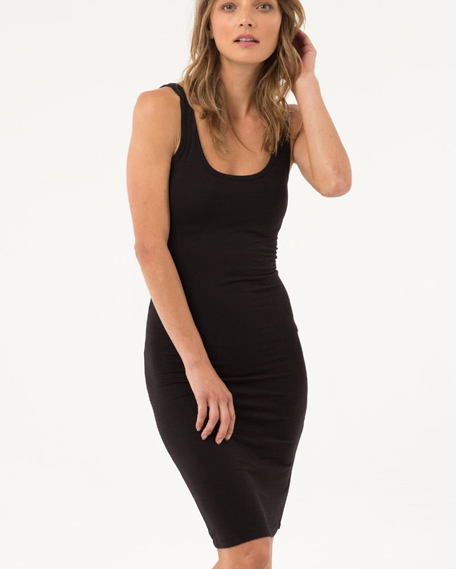 Bamboo Body Lola Slip Dress Black