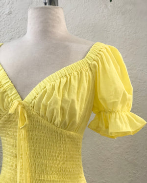 Lemon Sorbet Mini Dress