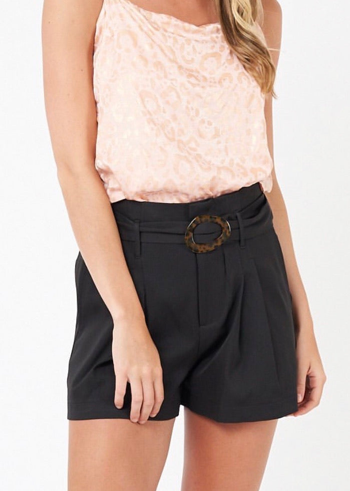 Buckle Shorts Black