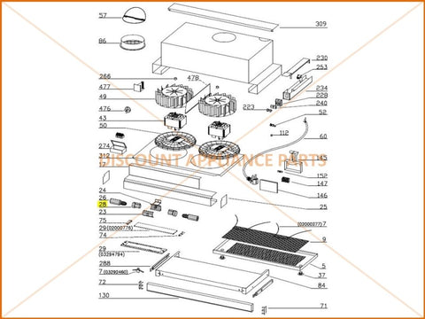 Smeg omega rangehood lamp holder part 02300152 discount 100 brand new and genuine mozeypictures Gallery