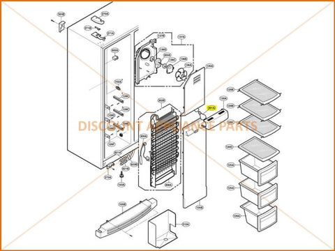 Lg refrigerator lamp 40w part 6912jb2004l discount appliance parts replaces parts aloadofball Image collections