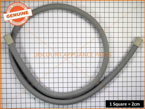 SIMPSON DISHLEX WESTINGHOUSE ELECTROLUX KELVINATOR DISHWASHER DRAIN HOSE STRAIGHT CUFFS 2M PART # 0571400142