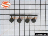 ELECTROLUX DISHLEX DISHWASHER CONTROL BUTTON SET GREY PART # 0612409002