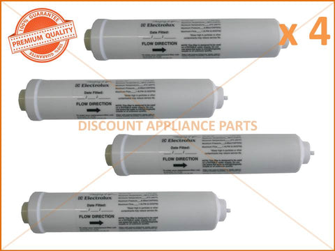4 x WESTINGHOUSE ELECTROLUX REFRIGERATOR WATER FILTER PART # 1450970