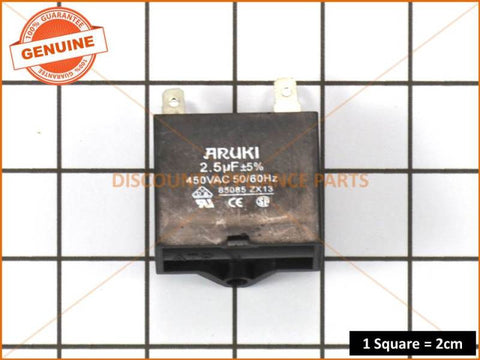 UNIVERSAL MOTOR RUN START CAPACITOR 2.5UF SQUARE PART # 2920702