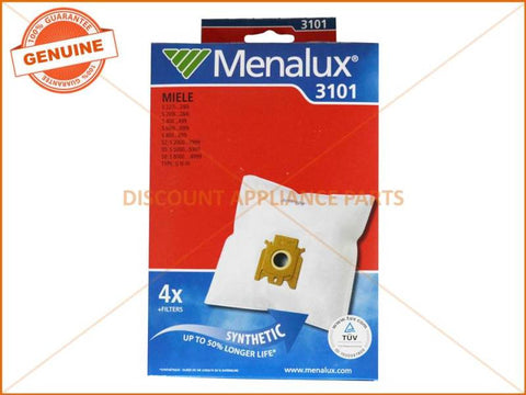 MENALUX VACUUM BAG SUITS: MIELE (PACK OF 5) PART # T22F 3101