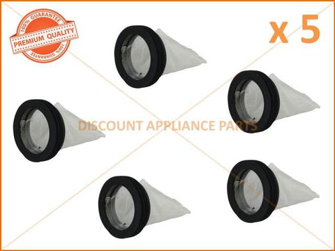 5 x HOOVER WASHING MACHINE LINT FILTER AND SEAL PART # 38784403