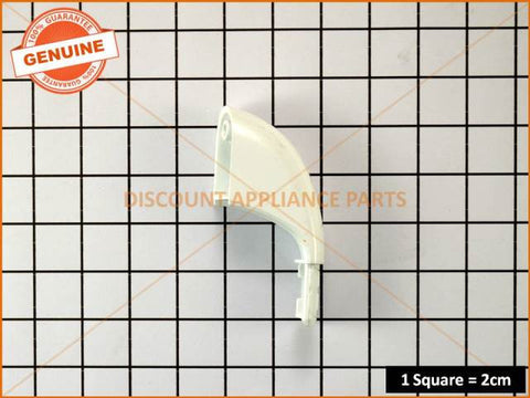 CHEF OVEN HANDLE RIGHT END WHITE PLASTIC PART # 51775