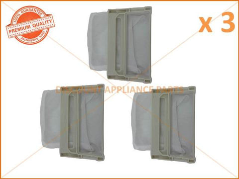 3 x LG WASHING MACHINE LINT FILTER PART # 5231FA2239K 5231EY2002A