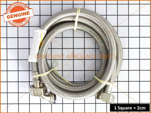 UNIVERSAL DISHWASHER INLET HOSESTAINLESS STEEL BRAIDED PART # ACC039