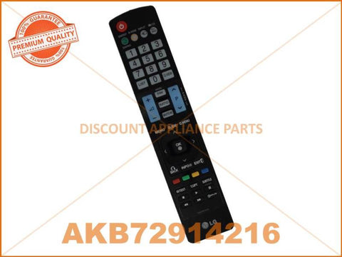 LG TV REMOTE CONTROL PART # AKB72914216 # AKB73615312 # AKB74115502