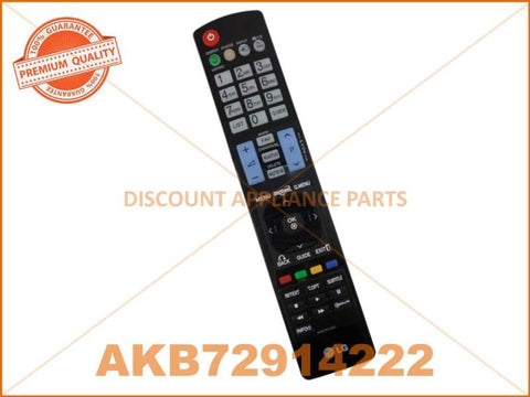 LG TV REMOTE CONTROL PART # AKB72914222 # AKB72914206 # AKB74115502