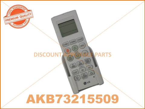 LG AIR CONDITIONER REMOTE CONTROLLER ASSEMBLY PART # AKB73215509