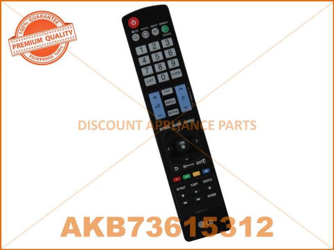 LG TV REMOTE CONTROL PART # AKB73615312 # AKB72914216 # AKB74115502