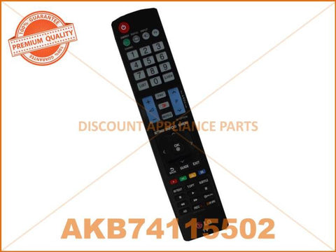 LG TV REMOTE CONTROL PART # AKB74115502 # AKB73615312 # AKB72914216
