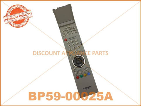 SAMSUNG TV REMOTE CONTROL PART # BP59-00025A