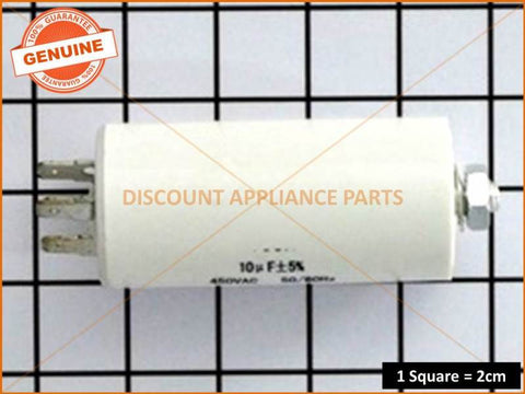 UNIVERSAL WASHING MACHINE CAPACITOR 10UF  PART # CA010