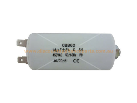 UNIVERSAL WASHING MACHINE DRYER MOTOR RUN CAPACITOR 14UF PART # CA014